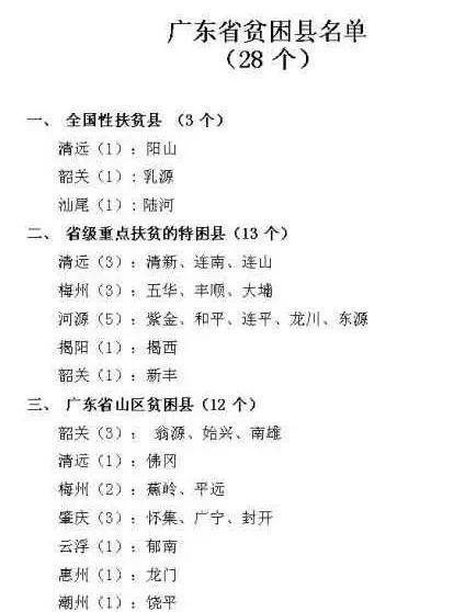 广东省那么发达,为什么还有全国贫困县?
