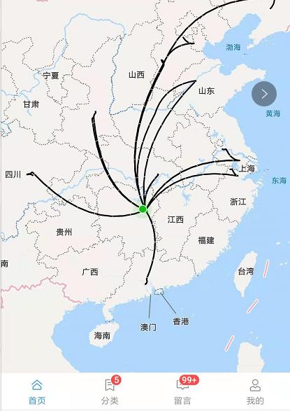 小程序地图曲线