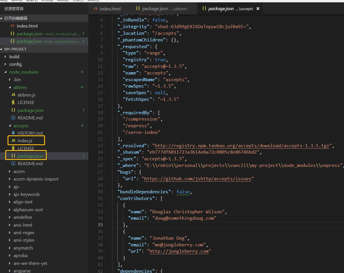 index.js作为入口js文件