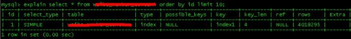 mysql<wbr>explain中的type列含义和extra列的含义