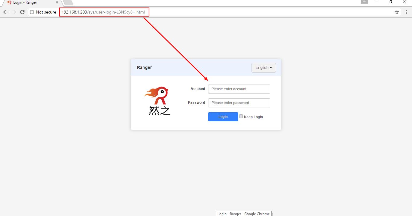 Chrome 打开登录页面