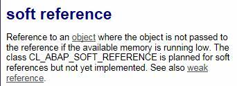 Java和ABAP中的几种引用类型的分析和比较