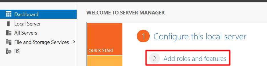 Server 2016 Add Role
