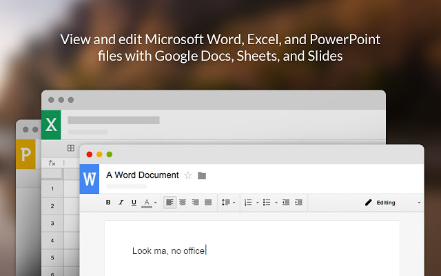 google文档、表格及幻灯片的office编辑