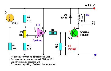 光敏电阻电路