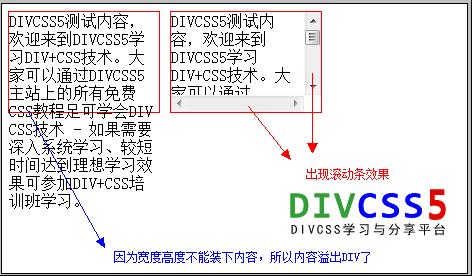 DIV滚动条样式实例效果截图