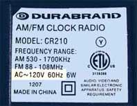 电气设备标签(USA)