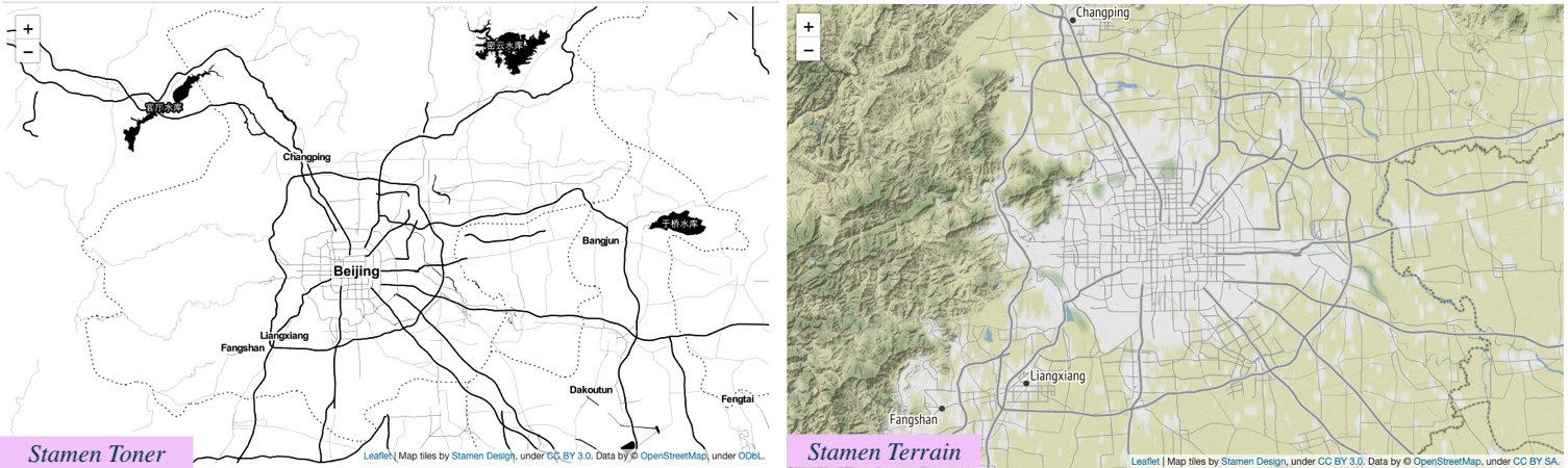 Stamen Toner & Stamen Terrain