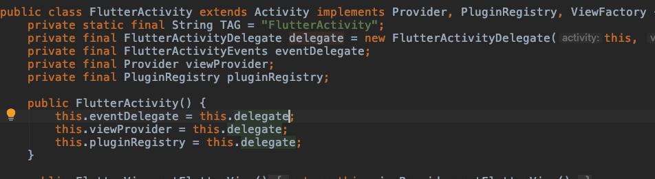 FlutterActivity实现的接口