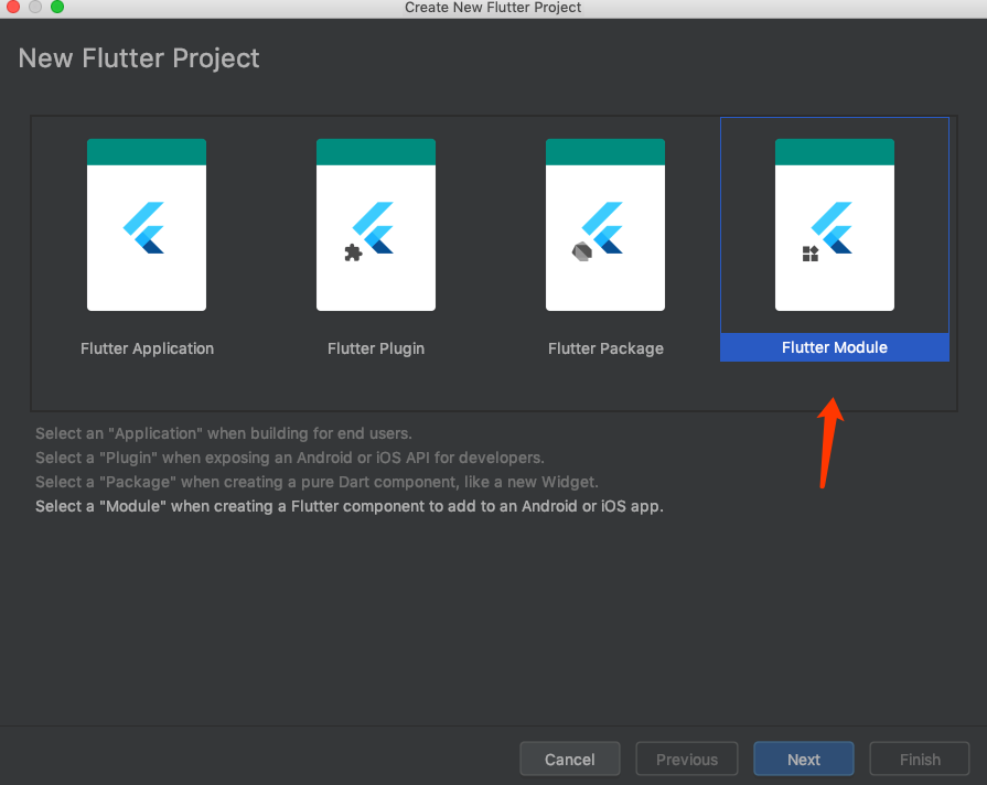 module形式创建Flutter