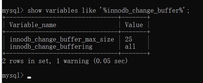Change Buffer 参数