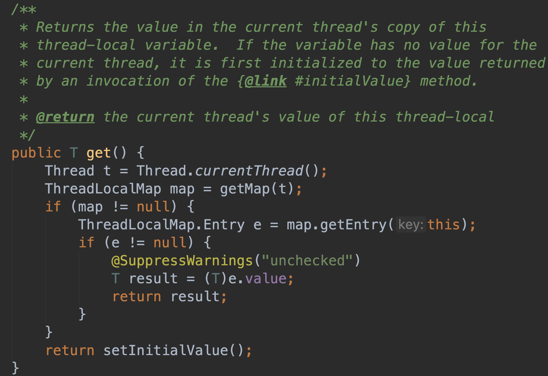 ThreadLocal # get()