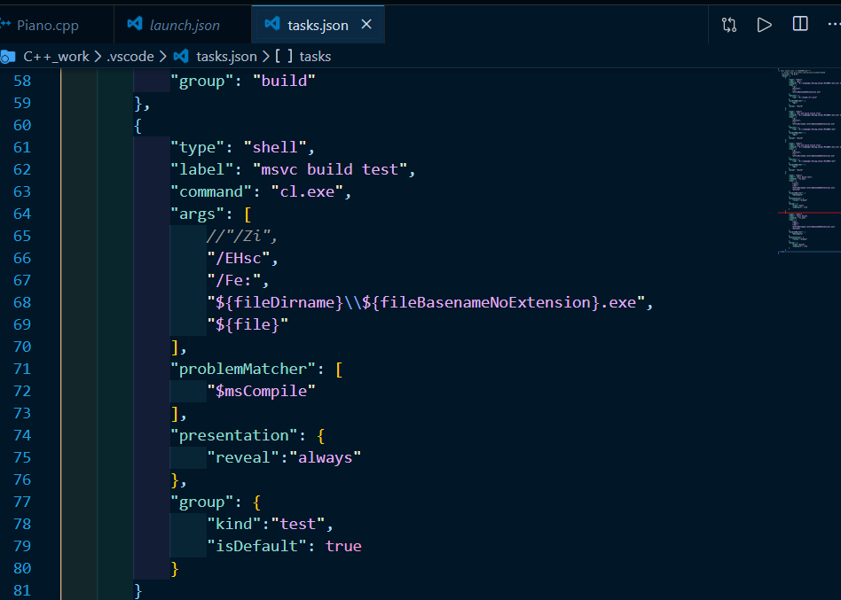 vscode里的tasks.json文件。不要问我任务名为什么既是build又是test,问就是脑子抽了