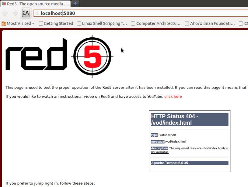 red5开源视频流服务器