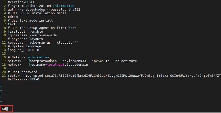 vim编辑器如何删除一行或者多行内容vim编辑器如何删除一行或者多行内容