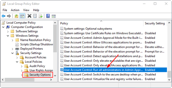 local-security-options