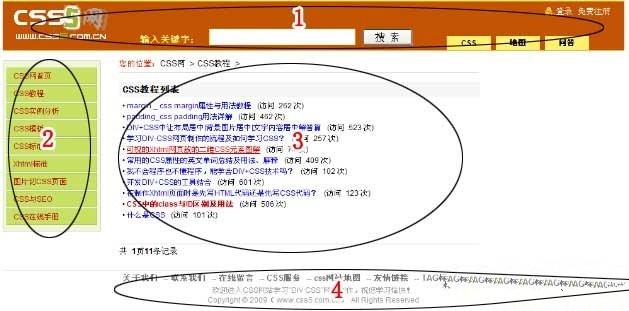 制作DIV CSS网页前思考布局