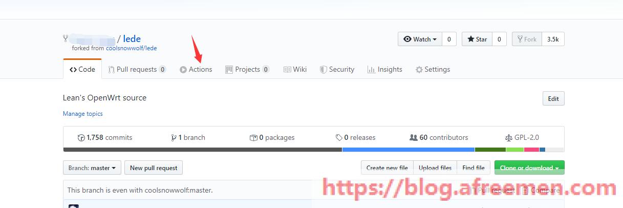 《GitHub ACTIONS 在线云编译OpenWRT固件》