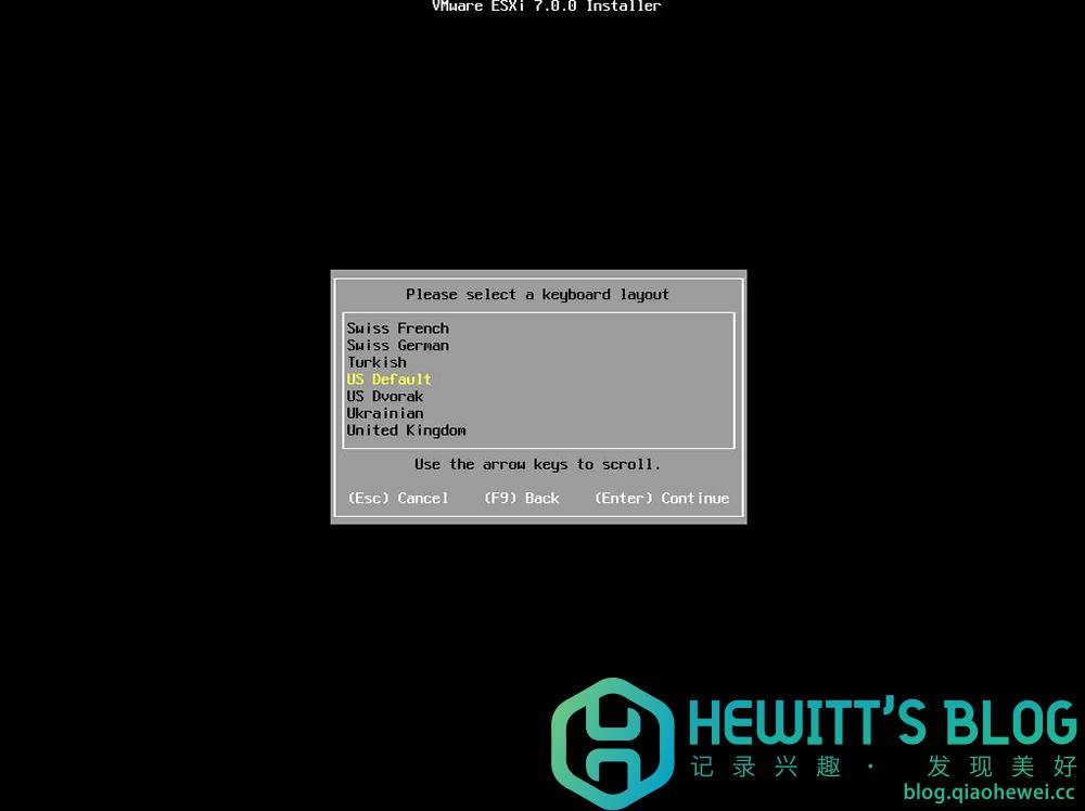 ESXI7.0部署安装步骤