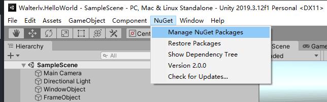 NuGetForUnity 的界面
