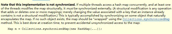 HashMap的部分注解