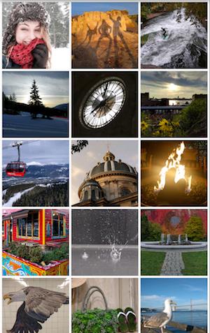 A 3-column grid of photos