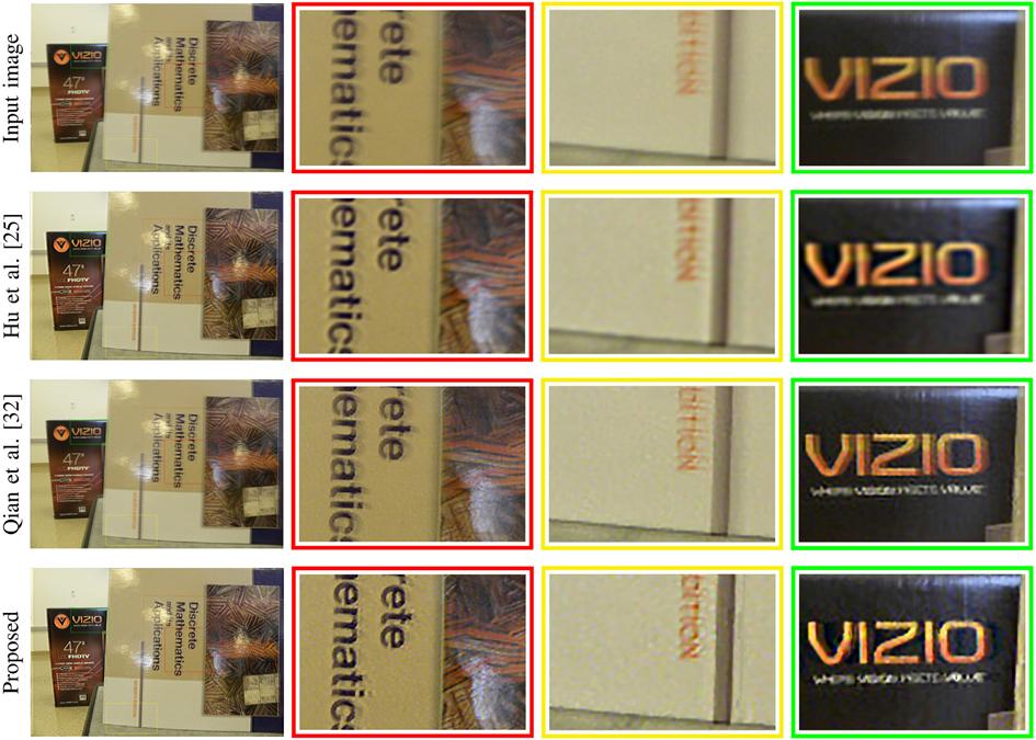 图 5 空变图像去模糊方法的比较 数据来源:输入图像取自文献3