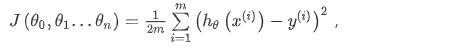 多变量代价函数