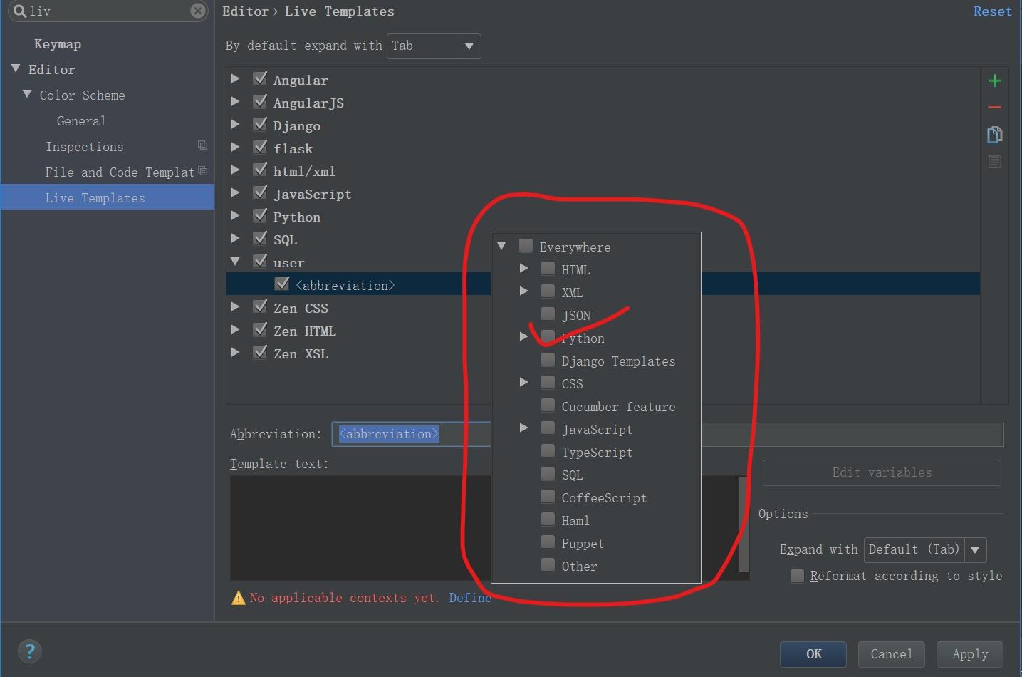 【pycharm】在pycharm中自定义模板代码,快速输出固定代码块