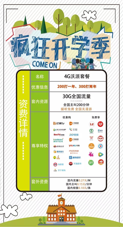 分享-中国联通校园套餐 200 打一年办理及续约