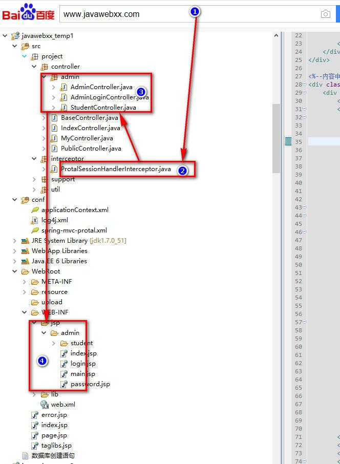 springmvc框架是如何运行访问的详细说明流程图1