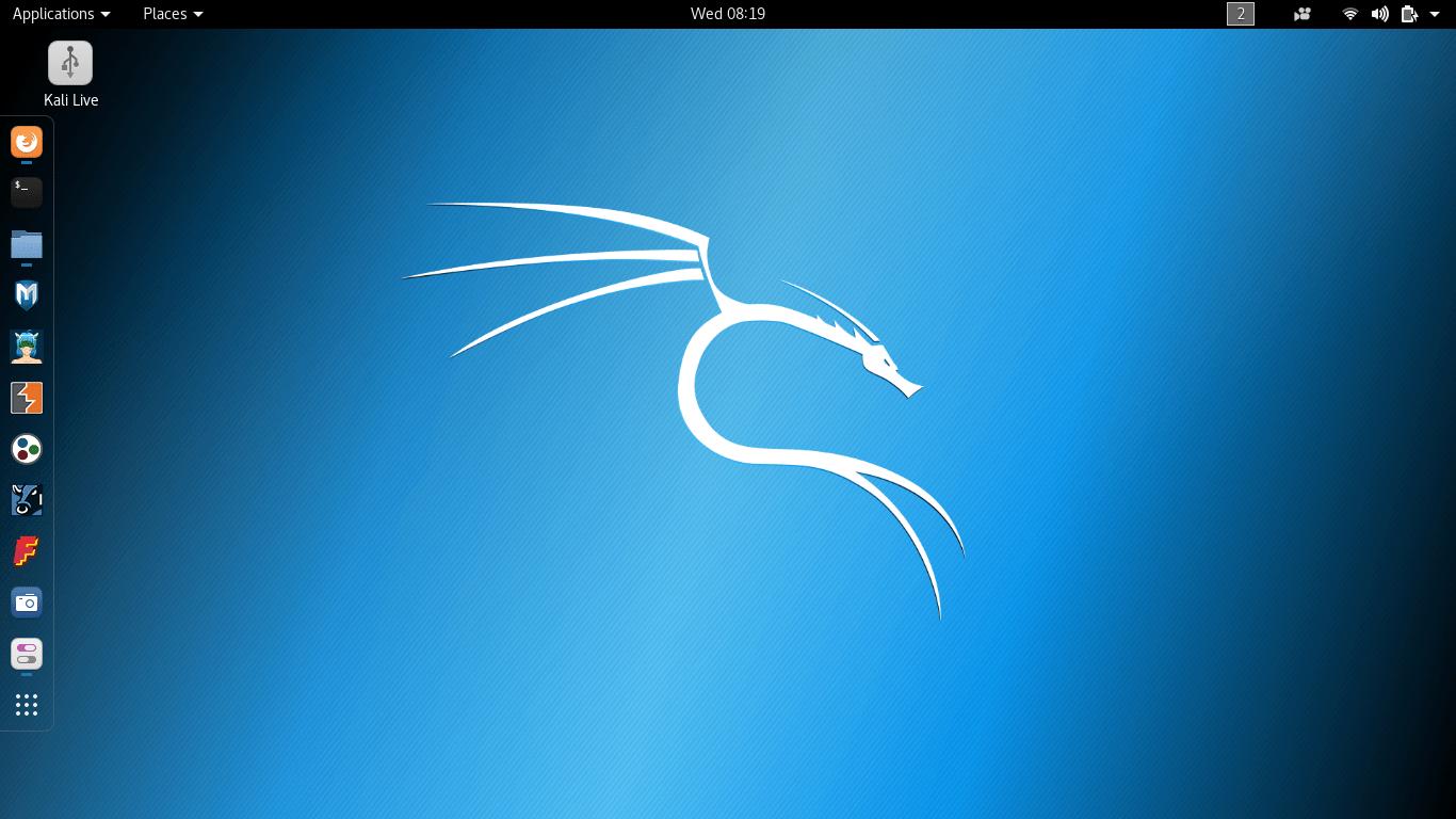 Kali Linux 默认 GNOME 桌面