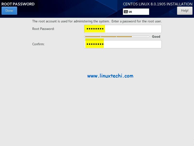 Root-Password-CentOS8-Installation