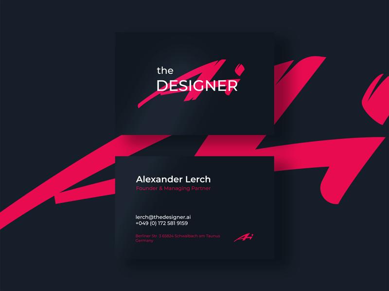 Logo for an AI-based design platform