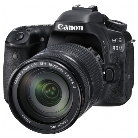 佳能(Canon)EOS 80D 单反相机 单反套机(EF-S 18-200mm f/3.5-5.6 IS 单反镜头)