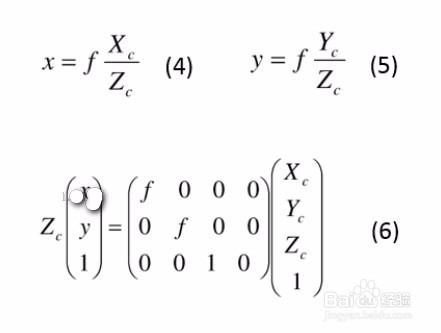 相机标定之四个坐标系及其关系