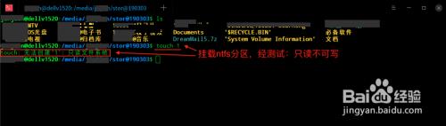 为什么深度Linux挂载NTFS分区只读不可写?