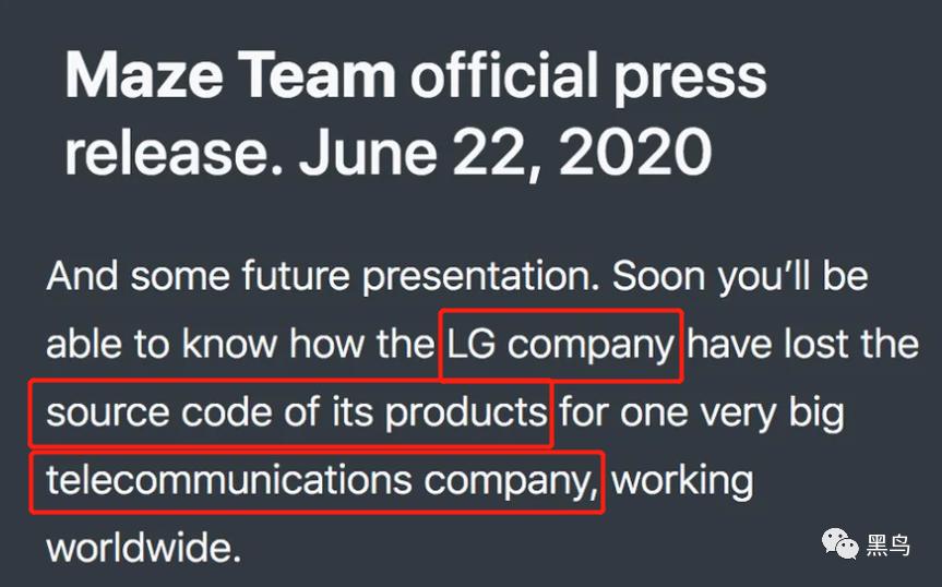 韩国LG集团疑被勒索软件攻击,数据和代码或将泄露blackorbird的博客-lg电子已受到maze勒索软件