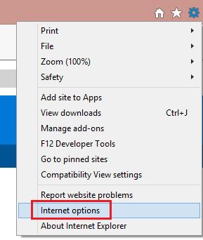 在网络浏览器菜单上,单击工具或