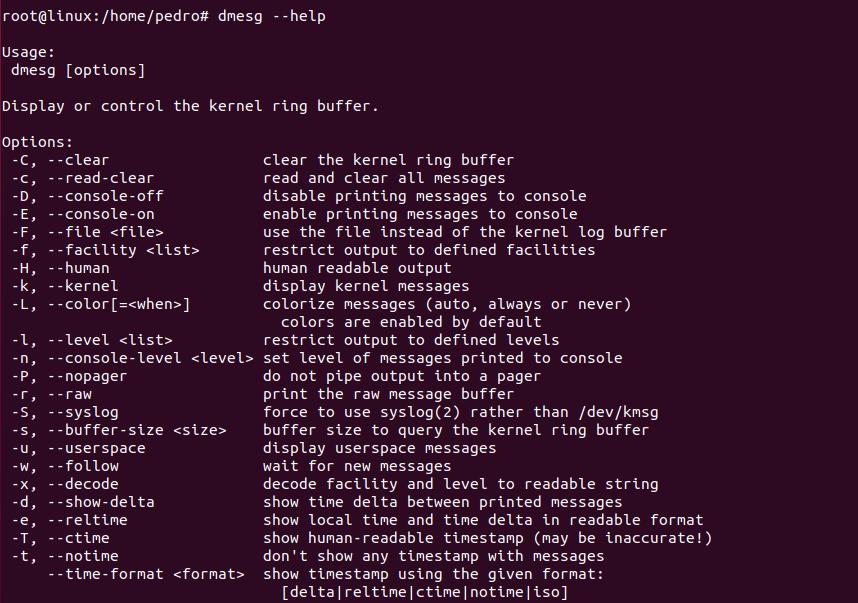 Linux系统中的dmesg