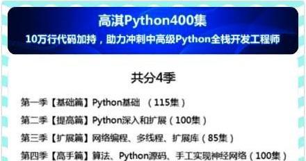10万行代码加持的Python415集视频教程,带你冲刺中高级Python