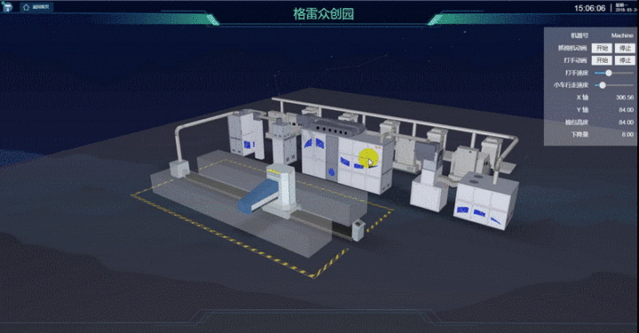 3D棉花厂 全方位监控管理,可视化让生产变得透明
