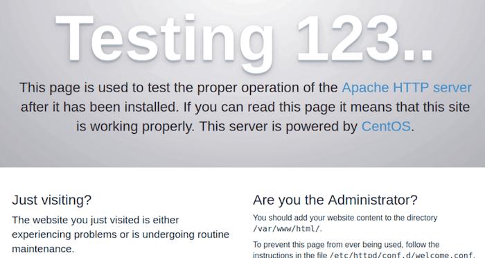 验证apache服务正在运行