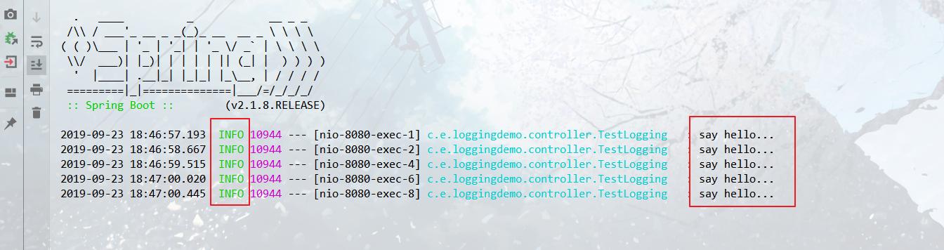 logging level设置特定包