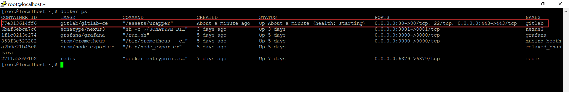 GitLab容器
