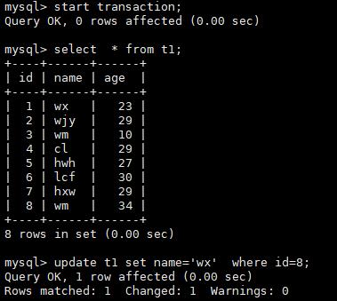 MySQL之insert update  delete 锁表情况